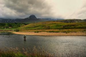 Andakílsá - Fossbakkahylur Efri (Mynd; Sigurþór Hólm)